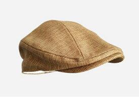 新品 セレブレザー CELEBLEATHER 麦わら帽子 リネン 麻ハンチングキャップ ベレー帽 ハンドメイド 手作り UV対策 メンズ 男性 レディース ラフィア