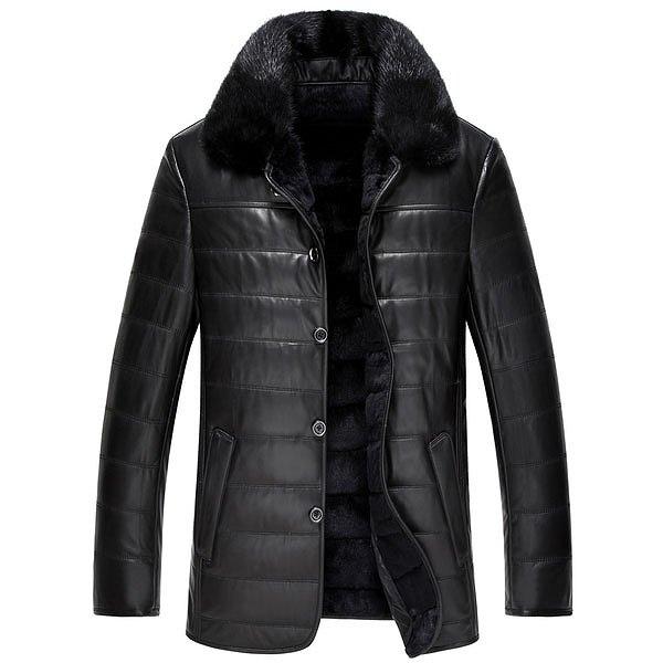セレブレザー メンズ 本革 ムートンファーボア羊皮羊毛ウールラムレザーコートジャケット JKT 革ジャンcf-521143005000