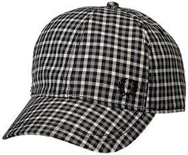 [フレッドペリー] 帽子 Gingham Check Baseball Cap HW5638 491CHARCOAL UK 1SZ (FREE サイズ)