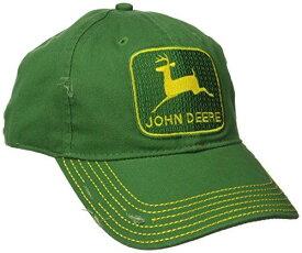 John Deere(ジョン ディア) 北米限定 ビンテージ ロゴ 刺繍付き ベースボールキャップ グリーン