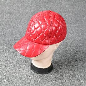 新品 セレブレザー本革キャップ帽子ぼうしボウシベースボール野球帽  本革 羊皮 大人気 537611705321レディースメンズ M L ブラック黒 赤 レッド