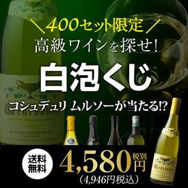 【送料無料】高級ワイン・シャンパンを探せ! 白泡くじ第2弾幻のムルソーが当たるかも!?【先着400セット】[ワイン 福袋][ワイン くじ][コシュデュリ][ブルゴーニュ][ロワール][白 ワイン][シャンパン]