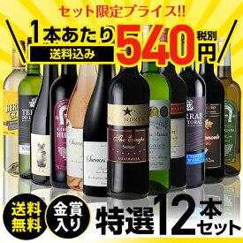 送料無料 金賞入り特選ワイン12本セット 202弾ワインセット ギフト 長S