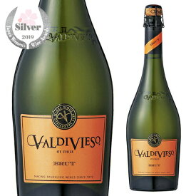 バルディビエソ ブリュット 750ml スパークリングワイン 白 泡 チリ VALDIVIESO BRUT 長S
