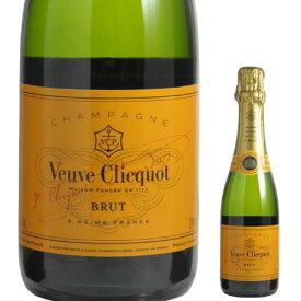 ヴーヴ クリコ ブリュット ハーフ 正規品 375mlVEUVE CLIQUOT BRUT ハーフ フランス シャンパン シャンパーニュ 白 辛口 泡 ヴーヴクリコ ブーブクリコ