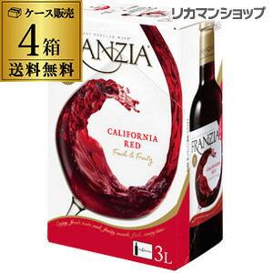 《箱ワイン》フランジア レッド 3L×4箱【ケース(4本入)】【送料無料】[ボックスワイン][BOX][ワインタップ][BIB][バッグインボックス][GL]