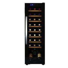 デバイスタイル WE-C27W本体カラー:ブラック 27本ワインセラー 家庭用ワインセラー送料無料 deviceSTYLE コンプレッサー式 家庭用 コンパクト 加温機能付き N/B