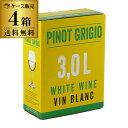 ボトル換算393円(税別)送料無料 ≪箱ワイン≫ネオン ピノ グリージョ モルドヴァ 3L 白ワイン 3L×4箱 ケース4箱入り …