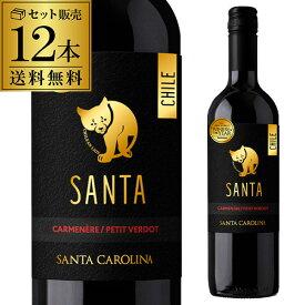 あす楽 時間指定不可 サンタ バイ サンタ カロリーナ カルメネール/プティ ヴェルド 赤ワイン 750ml 12本 ケース販売 RSL