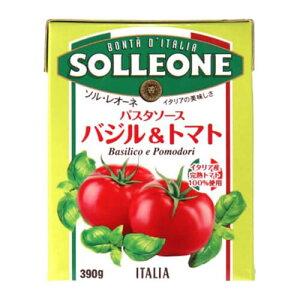 ソルレオーネ パスタソース バジル&トマト 390g テトラ ソルレオーネ バジル トマト パスタ イタリア 長S