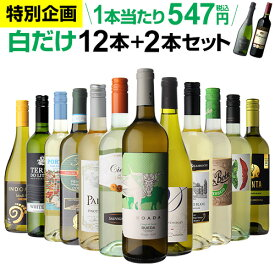 《 ご愛顧感謝 特別企画 11/1まで 》1本当たり なんと547円(税込) 送料無料 白だけ特選ワイン12本+2本セット(合計14本) 116弾 白ワインセット 辛口 白ワイン シャルドネ 家飲み 長S ハロウィン