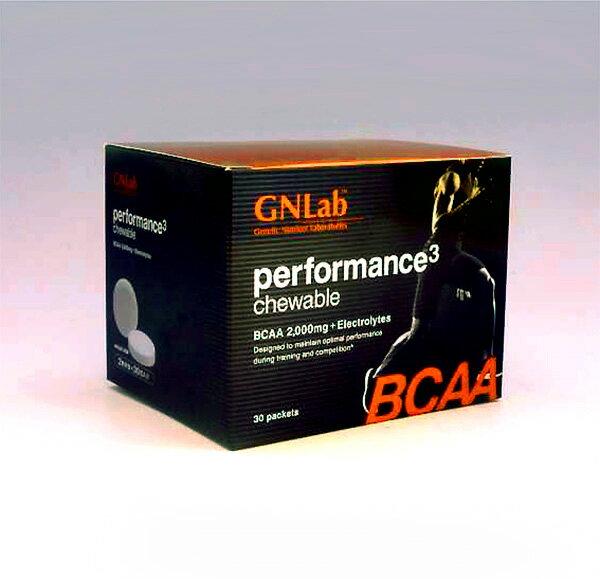 BCAA チュアブルタイプ 分岐鎖アミノ酸 サプリメント GNLab パフォーマンス キューブ /1粒1000mg配合/2粒x30包入