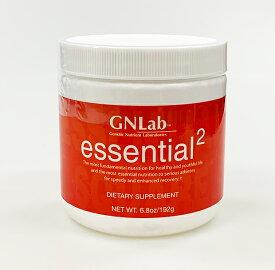 アミノ酸ダイエットの決定版! 体脂肪燃焼 アミノ酸サプリメント アスリート筋力増強で実績 『GNLab エッセンシャル・スクエア(粉末 Mボトル:192g:60食分)』 必須アミノ酸 サプリメント
