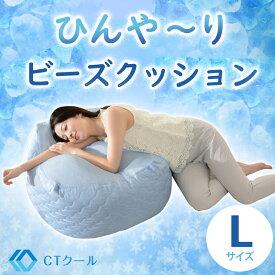 【日本製】ひんやりビーズクッション接触冷感 冷たい【送料無料】接触冷感 ひんやり ビーズクッション『ふわもち』 Lサイズ 和楽 洗濯可能