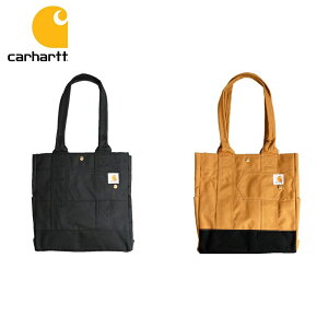 CARHARTT カーハート NORTH SOUTH TOTE Men's Ladies TOTE BAG BLACK BROWN 13112101 13112102