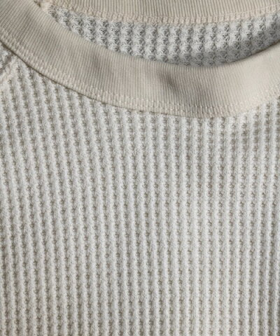 MADEINSTANDARDHEAVYWAFFLERAGLANCREWメイドインスタンダードビッグTシャツビッグシルエットホワイトブラックベージュグレーワッフルサーマル