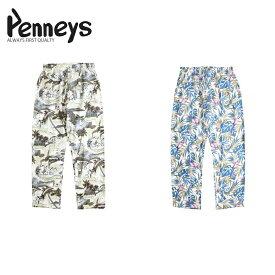 PENNEY'S ALOHA ROOM PANTS MADE IN JAPAN M L アロハ パジャマ イージー パンツ ホワイト ブルー グレー モノトーン