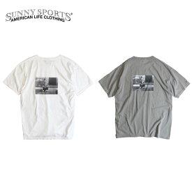 SUNNY SPORTS / YALE ARRIVING SS TEE サニースポーツ イェール大学 カレッジ フォト バックプリント ヴィンテージ 加工 ワンポイント 半袖 Tシャツ M L XL MEN'S LEDIES