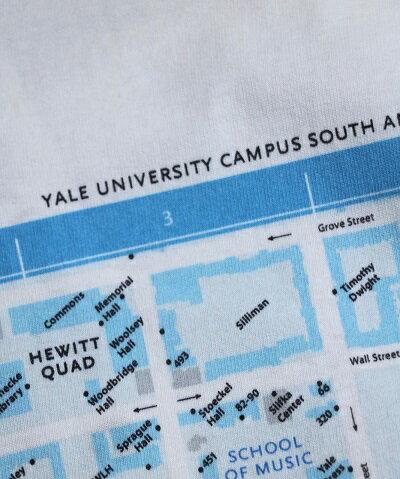 SUNNYSPORTSYALECAMPUSMAPSSTEEサニースポーツイェール大学半袖フォトTシャツMLXLMEN'SLEDIESホワイトベージュブラック