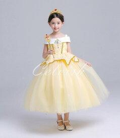 ガールズ クリスマス ドレス ベル 風 子供 ドレス プリンセスドレス コスプレ 美女と野獣 衣装 仮装 USJ C-2958S1688Y