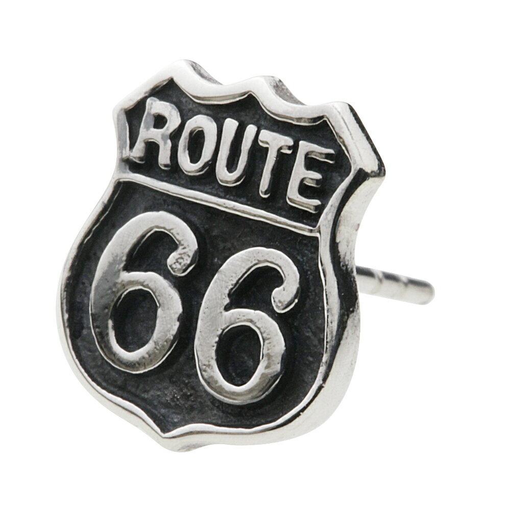 【セノーテ】 cenote e0563 【シルバーアクセサリー】ルート66標識ピアス