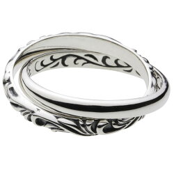 シルバーアクセサリーリング・指輪アラベスクツインリングr0375