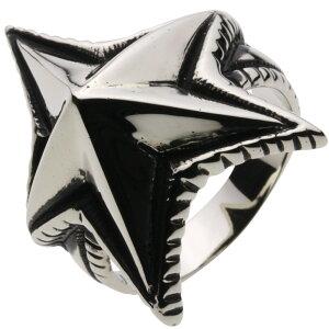 【全品15%off】ホワイトメタルリング 指輪 メンズ タトゥ 男性アクセ トライバル メンズリング シャープ 男性用 ハード ミュージシャン スタッズ 鋲 星 スター インディアンジュエリー ネイテ