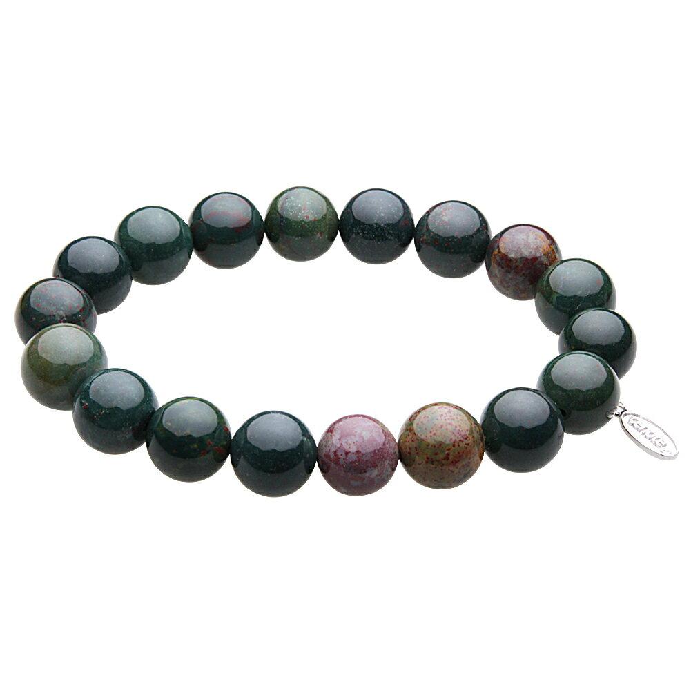 【天然石アクセサリー】ブラッドストーン 10mm玉数珠ブレスレット パワーストーン【cenote t1047】