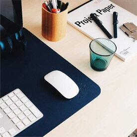 Regalo デスクマット マウス対応 デスクマット マウスパッド 大きめ 80cm×40cmPUレザー おしゃれ リバーシブル 青 ブルー 防水 傷つきにくい パソコン ゲーミング ゲーム オフィス 大型 携帯性 高品質 耐久性