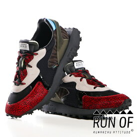 【RUN OF/ラン オブ】Lowcut Sneaker / RED TIGER / ダッドスニーカー / レッド / RUN14 【メンズ】【送料無料】