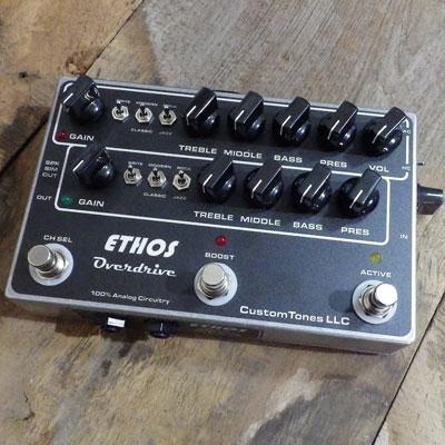 【送料無料】CUSTOM TONES 《カスタム・トーンズ》 Ethos Amp with TLE / Classic switch with S/R [商品番号 : 3023] エフェクター(オーバードライブ)