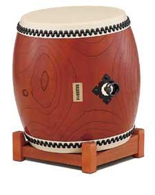 【受注生産品】【送料無料】 SUZUKI 《スズキ》 特殊皮革長胴太鼓(合成胴+特殊皮革) 42cm(1尺4寸)