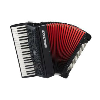 HOHNER《hona》Bravo III 120 Black(黑)手風琴(鋼琴鍵)