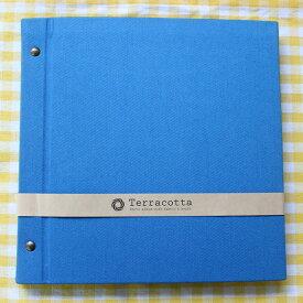 ましかくプリントを4枚ずつ貼っていける フリー台紙アルバム テラコッタ 外ビス式アルバム デミサイズ 台紙が増やせます 表紙カラーは4色