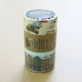マークス マスキングテープ3巻セット シティ1 ワゴンショップ カフェ アパートメント
