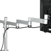 《送料無料》モニターアーム3面用左右5軸+中央2軸アーム[CEN-BM300-SV]CENTURY/センチュリー
