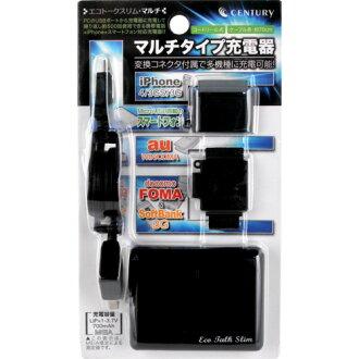 에코 토크 슬림 멀티 CENTURY/센츄리 docomo Softbank au iPhone 스마트 폰 충전기[eco talk slim multi]