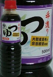 【青森大鰐町・津軽の味】マルシチ津軽味噌醤油手造りつゆ500mLペット