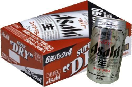【国産ビール】アサヒスーパードライ350mL缶1ケース24本