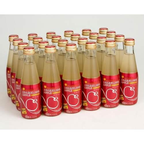 シャイニースパークリングアップルジュースマイルド瓶200ml×24本(1ケース)