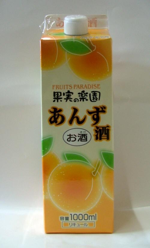 【果実のお酒】合同果実の楽園 あんず酒1000mLパック ケース6本入