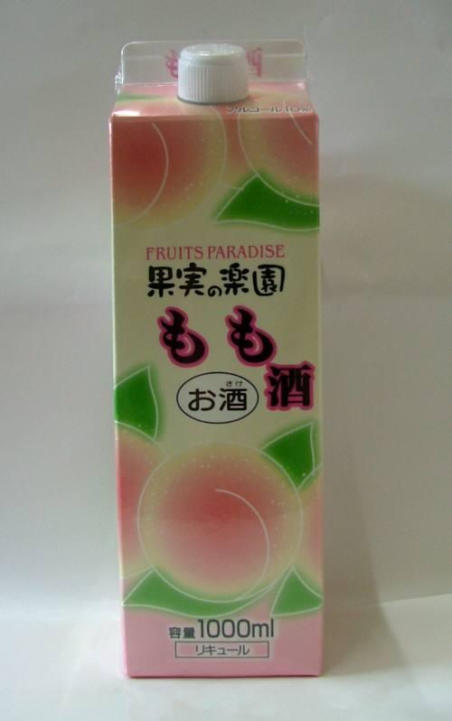 【果実のお酒】合同果実の楽園 もも酒1000mLパック  ケース6本入