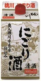 【パック酒】【青森の酒】【にごり酒】桃川 にごり酒 900ml パック ケース6本入