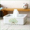 《送料無料・同梱可》陶器製ティッシュボックス カモミール シンプルイズベスト ティッシュケース 詰め替え エコ ポケ…