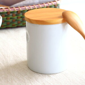 next陶器製キャニスター 500ml スタンダード コーヒー豆 紅茶 茶葉 お茶 保存容器 キッチン雑貨 シリコン付き天然木蓋 ナチュラル 北欧雑貨 ポーセリンアート 国産 瀬戸焼 訳あり