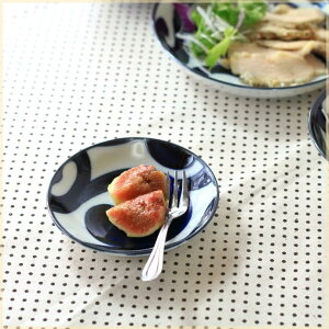 鳴門唐草 3.8寸小皿 ミニプレート 丸皿 醤油皿 漬物皿 フルーツプレート 和食器 国産 美濃焼 訳あり