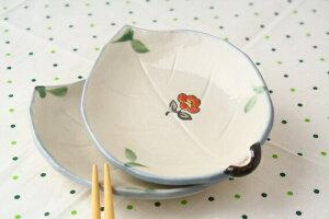 リーフの和風ティーバックトレイ ティータイムの添え皿として 葉っぱ リーフ 和風 かわいい ティーバッグトレイ 小皿 和食器 国産 美濃焼 訳あり