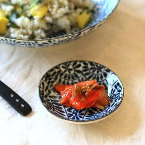 藍染タコ唐草 2.8寸玉皿 古来からある伝統の柄 小皿 醤油皿 薬味皿 漬物皿 和食器 国産 美濃焼 訳あり