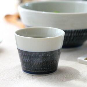 そば猪口 藍シノギカンナ食器 和食器 器 皿 陶器 磁器 おしゃれ かわいい 一人暮らし 和食 和皿 カップ コップ 蕎麦 そば ソバ フリーカップ あんみつ プリン 湯のみ 国産 美濃焼