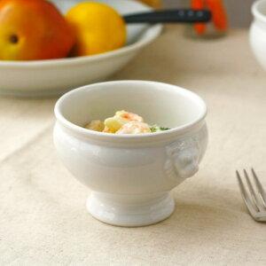 ライオントリフボール Mサイズ スープを入れて、パイ生地をかぶせ、オーブンへ 白い食器 スープ グラタン オーブン シチュー パイ 国産 美濃焼 訳あり
